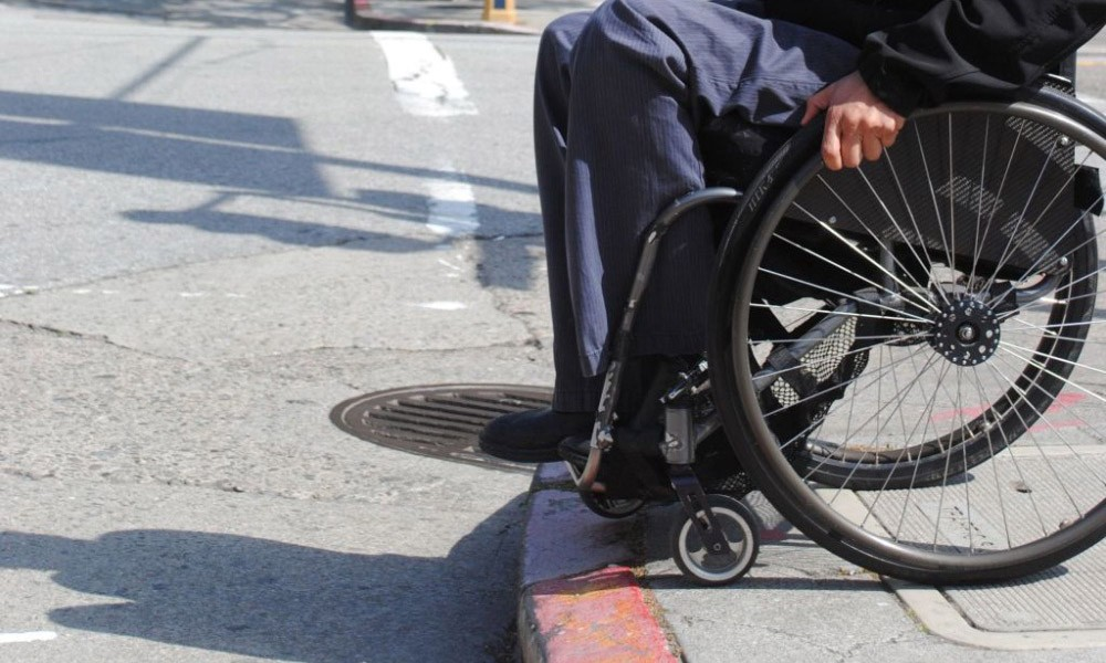 wheelchair curb problem