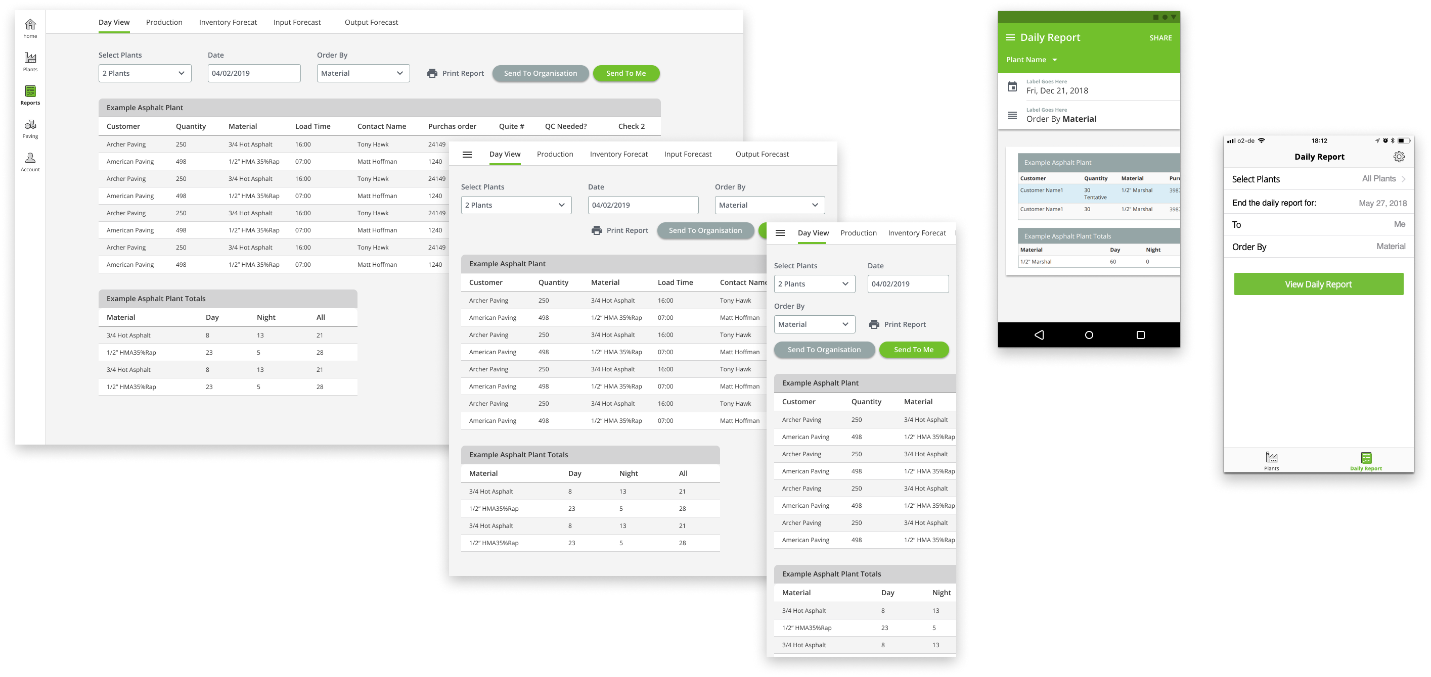PlantDemand reports cross platform