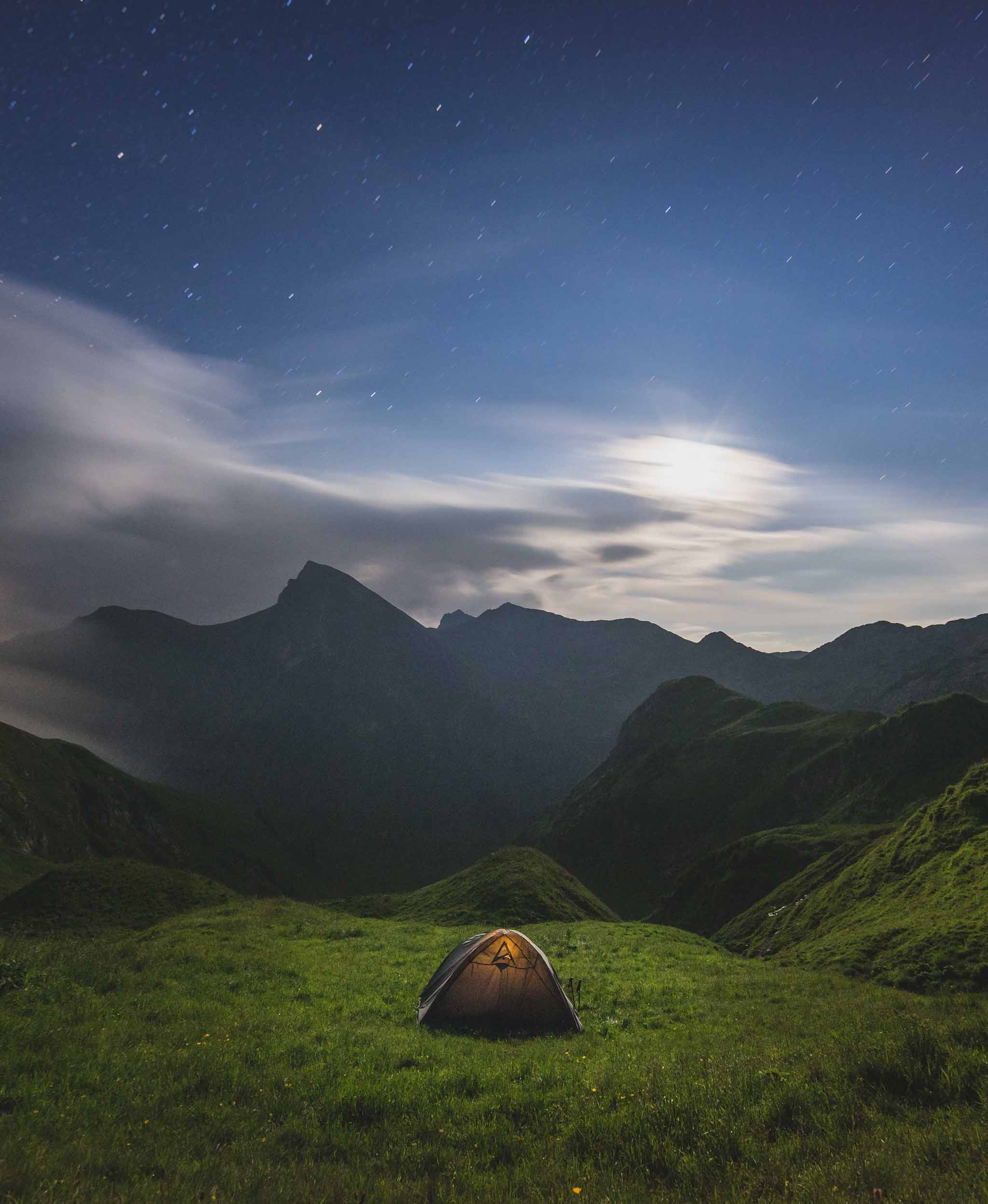 Alps night tent