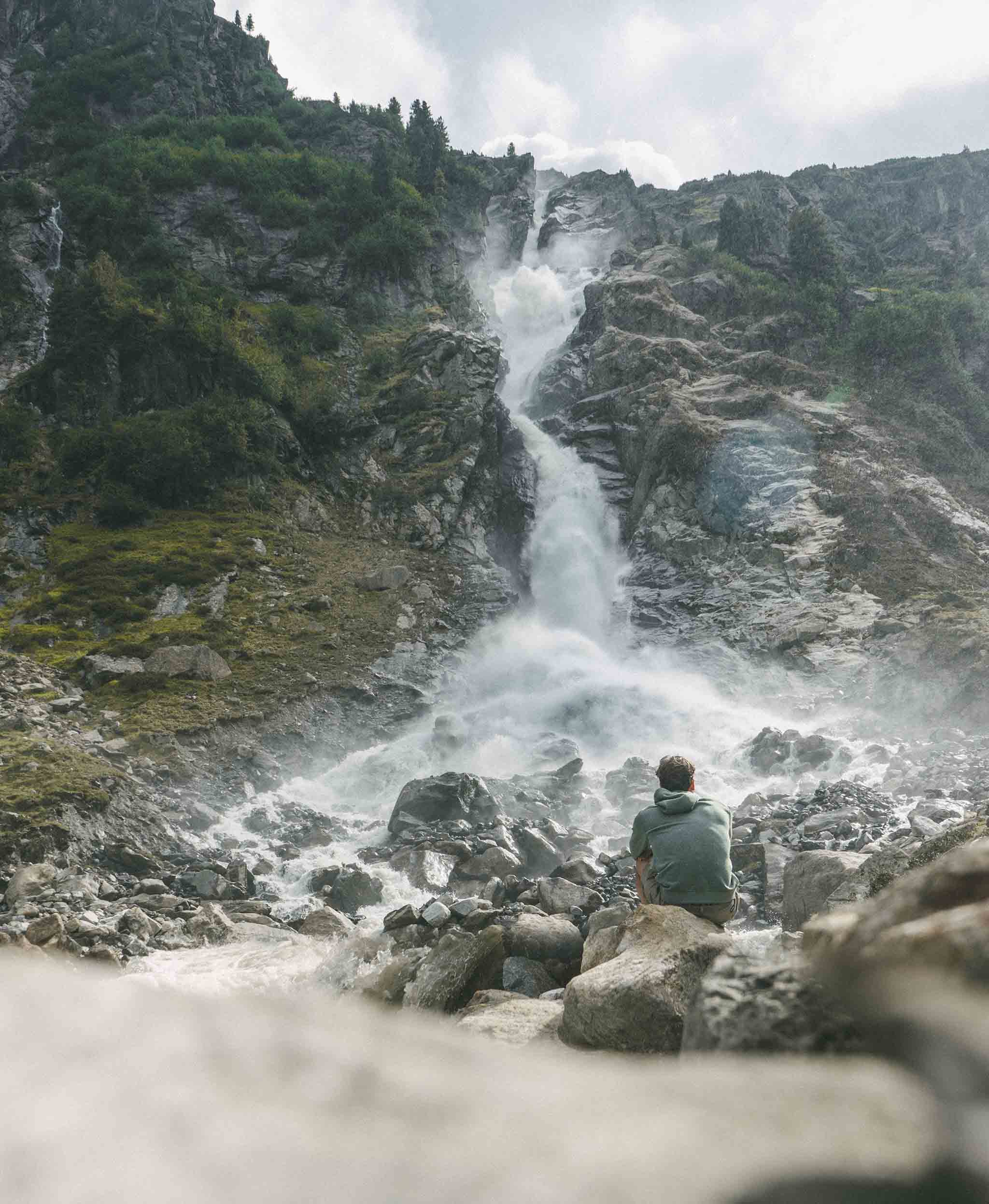 alps waterfall